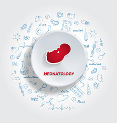 icons for medical specialties neonatology concept vector image