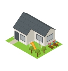 isometric house building icon vector image