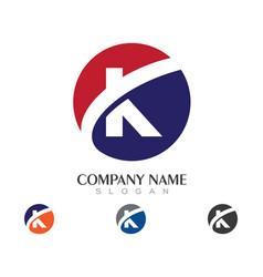 K letter logo business template vector