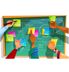 kanban board for agile scrum vector image