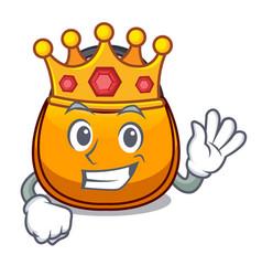 King hobo bag shape on a cartoon vector