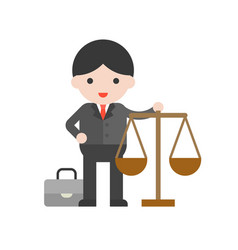 lawyer cute character professional set flat design vector image