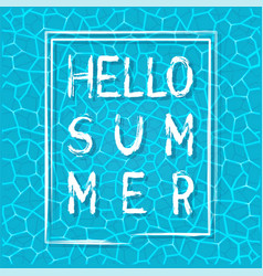 Lettering hello summer vector