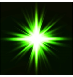 Light flare green effect vector