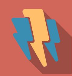 lightning flash bolt or thunderbolt electric vector image