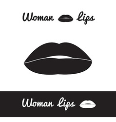 lips logo or icon in eps vector image