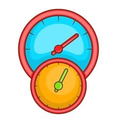 Little double speedometer icon cartoon style vector image