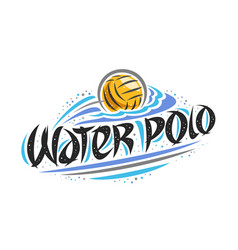 Logo for water polo vector