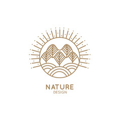 logo forest and fields vector image