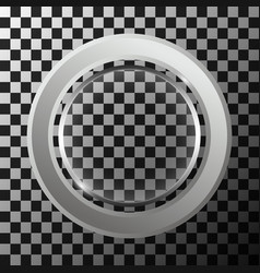 Metal ring with round lense vector