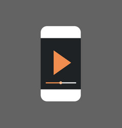 mp3 player interface on cell smart phone icon vector image