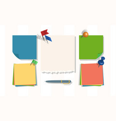 note papers page notepad or sheets of vector image