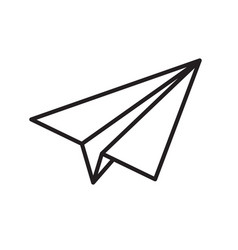 Paper plane thin line icon airplane jet fly vector