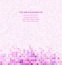 Pink square mosaic background design template vector image