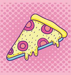pop art pizza cartoon vector image