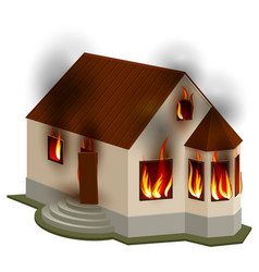 property insurance private house is on fire vector image