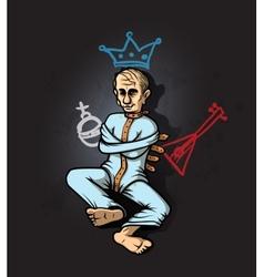 Putin Crazy vector