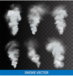 Realistic transparent smoke steam vector