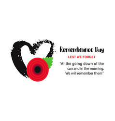remembrance day poster lest we forget vector image