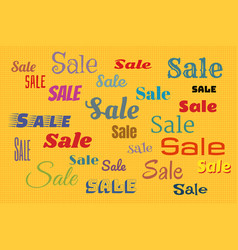 sales background with color text vector image