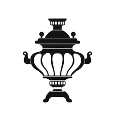 Samovar icon simple style vector image