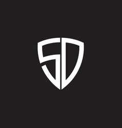 Sd letter initial icon logo design template vector
