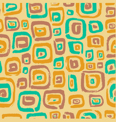 seamless pattern with abstract square elements vector image