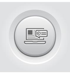 Security Alert Icon Grey Button Design vector image