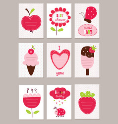 set bacards vector image