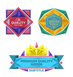 Set retro badge jewel labels and logo vector
