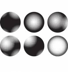 Six spheres vector