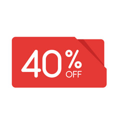 special offer sale red rectangle origami tag vector image