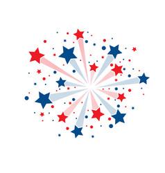 stars fireworks background vector image