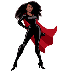 superheroine black on white vector image