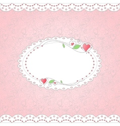 Template for card vector image