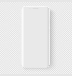 totally soft realistic white smartphone 3d vector image