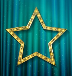 Transparent golden star vector