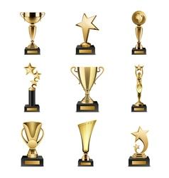 Trophy Awards Realistic Set vector