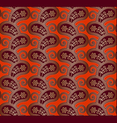 vintage background with gold paisley pattern vector image