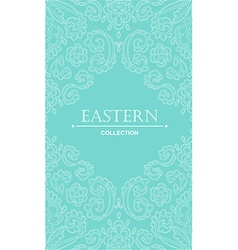 Vintage ornate card with Eastern floral elements vector image