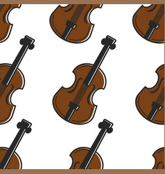 violin austrian national musical instrument vector image