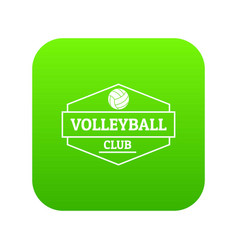 volleyball icon green vector image