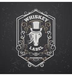 Whiskey lable vector