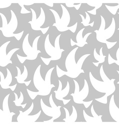 White dove in the air seamless pattern eps10 vector