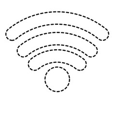 wifi signal icon in black dotted silhouette vector image
