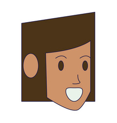 woman face head vector image
