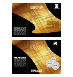 Brochure folder leaflet abstract element vector image vector image