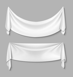 Wrinkled textile drape fabric empty white vector image vector image