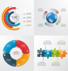 4 steps infographic templates Business concept vector image