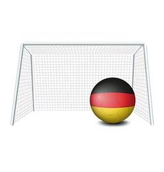 A soccer ball with the german flag vector